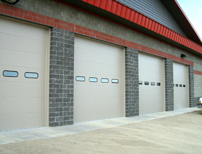 Raynor TC-200 Doors for the Smith Valley Fire Dept. In Claytone Color